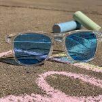 Clear w/ blue lens